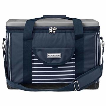 anndora Kühltasche XL blau weiß gestreift 40 L - Kühlbox Isoliertasche Picknicktasche - 2