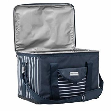 anndora Kühltasche XL blau weiß gestreift 40 L - Kühlbox Isoliertasche Picknicktasche - 4