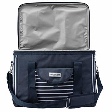 anndora Kühltasche XL blau weiß gestreift 40 L - Kühlbox Isoliertasche Picknicktasche - 5