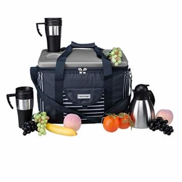 anndora Kühltasche XL blau weiß gestreift 40 L - Kühlbox Isoliertasche Picknicktasche - 9