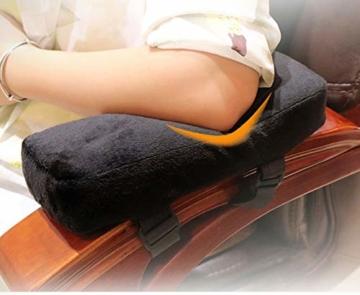 Armlehnen Polster Armlehnen Pads Ergonomisches Memory Foam Anti-Rutsch-Ellbogenstützkissen für Ellbogenentlastung armauflage schreibtisch Armpolster (schwarz,25x10x5cm) - 6