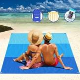 AWAVO Picknickmatte Stranddecke, extra große 200 * 210cm wasserdichte sandfreie Picknickdecke, schnell trocknende Strandmatte für Reisen, Camping, Wandern und Musikfestivals - 1