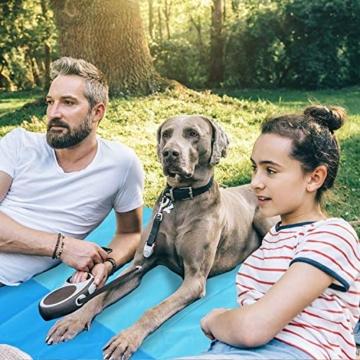 AWAVO Picknickmatte Stranddecke, extra große 200 * 210cm wasserdichte sandfreie Picknickdecke, schnell trocknende Strandmatte für Reisen, Camping, Wandern und Musikfestivals - 5