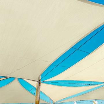 Awnic Sonnensegel inkl Befestigungsseile Wetterbeständig Wasserdicht Sonnenshutz für Garten Outdoor Dreieckig 300D Oxford Gewebe 3x3x3m - 3