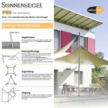 CelinaSun Sonnensegel inkl Befestigungsseile PES Polyester wasserabweisend imprägniert Dreieck rechtwinklig 3 x 3 x 4,25 m anthrazit - 2