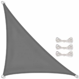 CelinaSun Sonnensegel inkl Befestigungsseile PES Polyester wasserabweisend imprägniert Dreieck rechtwinklig 3 x 3 x 4,25 m anthrazit - 1