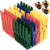 Deuba Wäscheklammern 200 Stück Kunststoff Extra Starke Feder mit Verzinktem Stahldraht Witterungsbeständig in 4 Farben - 1