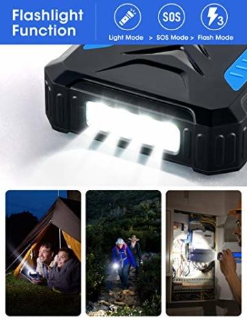 DJROLL 36000mAh Qi Wireless Solar Powerbank mit 4 USB/Typ C Ausgängen und LED-Lampe, Tragbares Outdoor Wasserdichtem Power Bank Solarpanel Kompatibel für iPhone Samsung Smartphones - 4