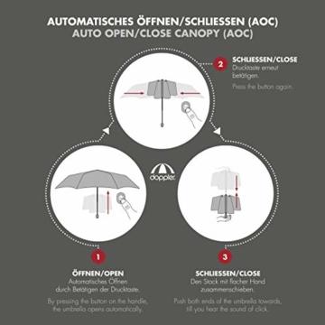 doppler Taschenschirm Carbon Magic XM Business – Übergroßes Schirmdach – Elegant – Schwarz - 2