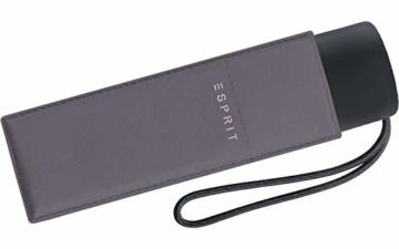 Esprit Taschenschirm Petito, 91 cm, Excalibur (Grau) - 1