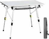 EVER ADVANCED Aluminium Campingtisch klappbar Klapptisch faltbar tragbar leicht Falttisch Tischbein Höheneinstellbar Tischplatte Größe 89.9 x 53cm - 1