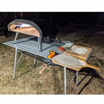 EVER ADVANCED Aluminium Campingtisch klappbar Klapptisch faltbar tragbar leicht Falttisch Tischbein Höheneinstellbar Tischplatte Größe 89.9 x 53cm - 8
