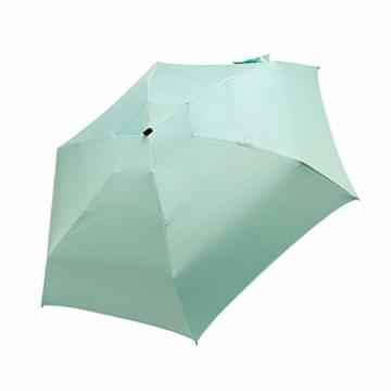 FENSIN Ultra Light Mini kompakte taschenschirm Reise Regenschirm - Winddicht Tragbar Sonnenschirm Sonne & Regen Outdoor Golf Regenschirm UV- Schutz für Damen Herren Kinder (Grün) - 2