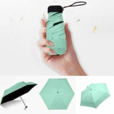 FENSIN Ultra Light Mini kompakte taschenschirm Reise Regenschirm - Winddicht Tragbar Sonnenschirm Sonne & Regen Outdoor Golf Regenschirm UV- Schutz für Damen Herren Kinder (Grün) - 1