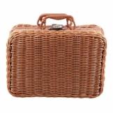 Gaoominy Reise Picknick Korb Hand Gemachte Wicker Aufbewahrungs Koffer Vintage Koffer Requisiten Box Weben Bambus Boxen Au?en Rattan Organizer - 1