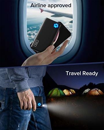 INIU Power Bank, Am schlanksten & leichtesten USB C 10000 mAh Externer Akku, Drei 3A-Ausgänge Handy Powerbank mit Taschenlampe für iPhone 12 Samsung Galaxy S20 Huawei Xiaomi iPad Airpods Android mehr. - 6