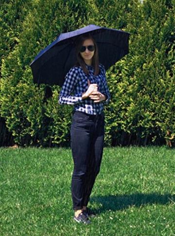ISO TRADE Taschenschirm Auf-Zu Automatik 110cm Mini Regenschirm Winddicht schwarz #3406 - 2