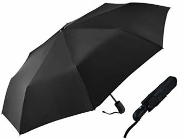 ISO TRADE Taschenschirm Auf-Zu Automatik 110cm Mini Regenschirm Winddicht schwarz #3406 - 3