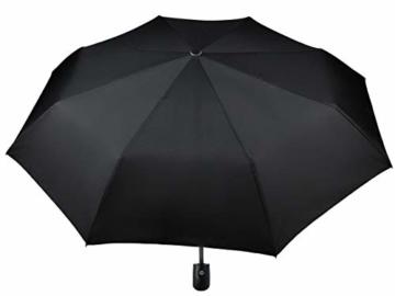 ISO TRADE Taschenschirm Auf-Zu Automatik 110cm Mini Regenschirm Winddicht schwarz #3406 - 1