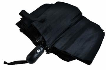 ISO TRADE Taschenschirm Auf-Zu Automatik 110cm Mini Regenschirm Winddicht schwarz #3406 - 7