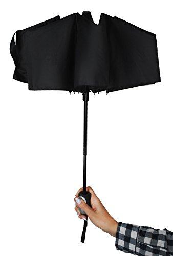 ISO TRADE Taschenschirm Auf-Zu Automatik 110cm Mini Regenschirm Winddicht schwarz #3406 - 9