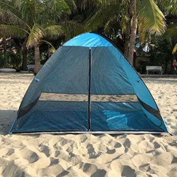 Juliyues Strandzelt pop up Strandmuschel Strandzelt Baby UV Schutz Extra Light Automatische mit Reißverschluss Tragbar Beach Zelt Wurfzelt für Familien Baby Urlaub - 6