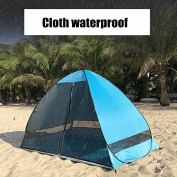 Juliyues Strandzelt pop up Strandmuschel Strandzelt Baby UV Schutz Extra Light Automatische mit Reißverschluss Tragbar Beach Zelt Wurfzelt für Familien Baby Urlaub - 7