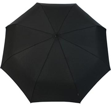 Knirps Regenschirm Taschenschirm Large Duomatic - Black - 3