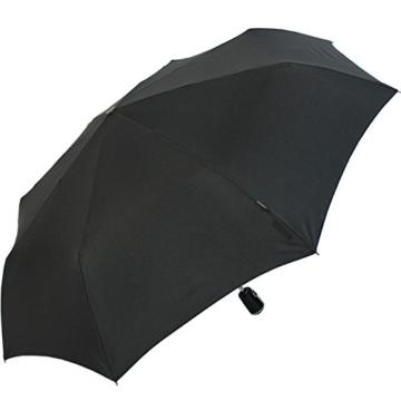 Knirps Regenschirm Taschenschirm Large Duomatic - Black - 4