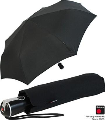 Knirps Regenschirm Taschenschirm Large Duomatic - Black - 6