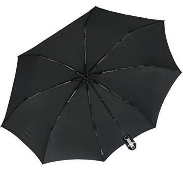 Knirps Regenschirm Taschenschirm Large Duomatic - Black - 7