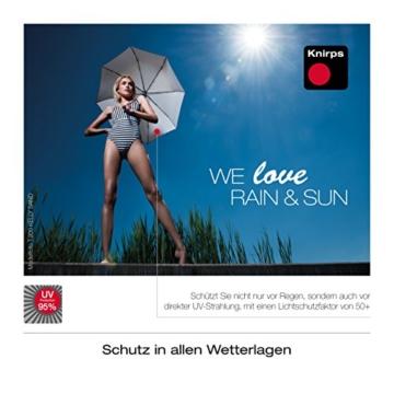 Knirps Taschenschirm T.200 Duomatic Dots – Auf-Zu-Automatik – Sturmfest – Windproof – Punkte-Design – Dunkelblau - 2
