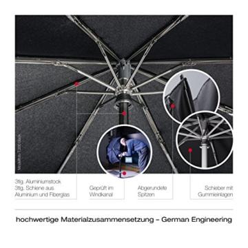 Knirps Taschenschirm T.200 Duomatic Dots – Auf-Zu-Automatik – Sturmfest – Windproof – Punkte-Design – Dunkelblau - 3
