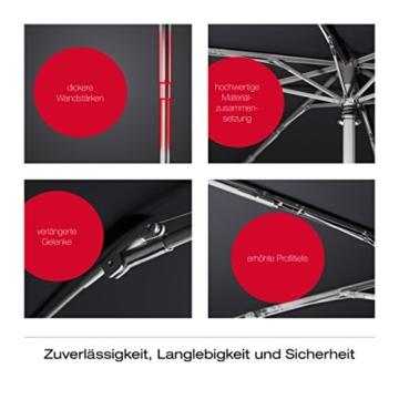 Knirps Taschenschirm T.200 Duomatic Dots – Auf-Zu-Automatik – Sturmfest – Windproof – Punkte-Design – Dunkelblau - 6