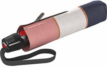 Knirps Taschenschirm T.200 Medium Duomatic Horizon UV Protection Rosé - 1