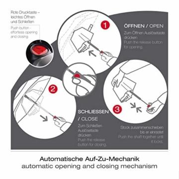 Knirps Taschenschirm T.400 Duomatic Uni – Auf-Zu-Automatik – Sturmfest – Windproof – Schwarz - 7