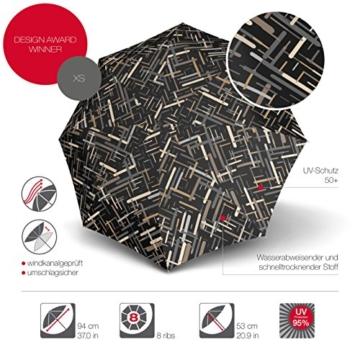 Knirps X1 Taschenschirm - Elektra Neutral - inkl. Eva-Hardcase im Schirmdesign - 100% Polyester - Hochqualitative Verarbeitung - Windkanal getestet - Manual, klein, kompakt, leicht u. zuverlässig - 2