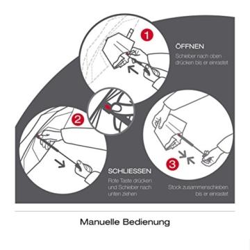 Knirps X1 Taschenschirm - Elektra Neutral - inkl. Eva-Hardcase im Schirmdesign - 100% Polyester - Hochqualitative Verarbeitung - Windkanal getestet - Manual, klein, kompakt, leicht u. zuverlässig - 3