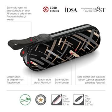 Knirps X1 Taschenschirm - Elektra Neutral - inkl. Eva-Hardcase im Schirmdesign - 100% Polyester - Hochqualitative Verarbeitung - Windkanal getestet - Manual, klein, kompakt, leicht u. zuverlässig - 5