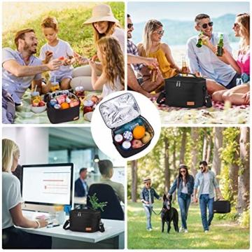 Kühltasche Klein Faltbar Thermotasche für Die Arbeit Männer Frauen Lunch Taschen Picknicktasche Isoliertasche Camping Reise Barbecue Milch Frühstücken Getränke Verstellbarer Schultergurt - 3
