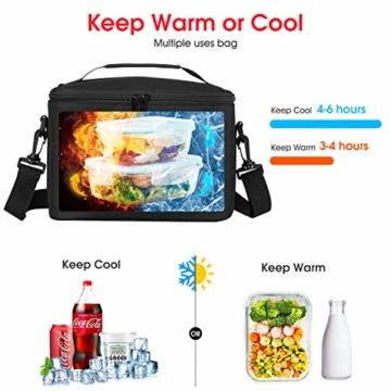 Kühltasche Klein Faltbar Thermotasche für Die Arbeit Männer Frauen Lunch Taschen Picknicktasche Isoliertasche Camping Reise Barbecue Milch Frühstücken Getränke Verstellbarer Schultergurt - 5