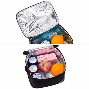Kühltasche Klein Faltbar Thermotasche für Die Arbeit Männer Frauen Lunch Taschen Picknicktasche Isoliertasche Camping Reise Barbecue Milch Frühstücken Getränke Verstellbarer Schultergurt - 7