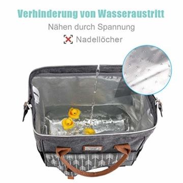 Lekesky Lunchtasche Isolierte Kühltasche für Frauen Auslaufsichere weit geöffnete Lunchbox, Grau - 2
