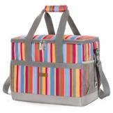 LUNCIA 30L Kühltasche Groß faltbar Kühlkorb Kühlbox Isoliertasche Thermotasche Picknicktasche für Lebensmitteltransport - 1