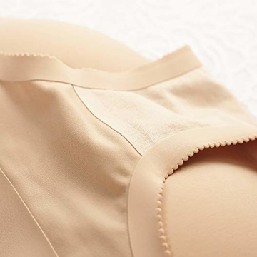 Mmsww Ladies Unterwäsche, Beauty-Body-Hosen Gefälschte Butt Taillen Hüften Big Size Hüften Briefe Glatt EIN Stück Nicht Markieren Dicken Armpolster,Black,XL - 2