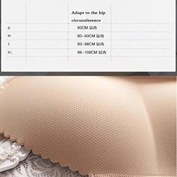 Mmsww Ladies Unterwäsche, Beauty-Body-Hosen Gefälschte Butt Taillen Hüften Big Size Hüften Briefe Glatt EIN Stück Nicht Markieren Dicken Armpolster,Black,XL - 6