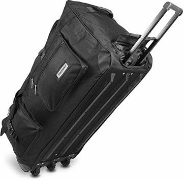 normani XXXL -Trolley - Jumbo Travel Reisetasche - Riesen Volumen Farbe Schwarz / 150 Liter - 1