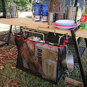 Picknickkorb, faltbar, Netzkorb, Metallhalterung, Kochgeschirrhalter, Organizer, PingGongHuaKeJiYouXianGongSi - 3