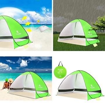 Pop Up Strandmuschel, LOTUSWILD Automatisches StrandZelt Extra Leicht UV-Schutz Portable Beach Zelt für Camping/Outdoor/ BBQ/Garten/Park/Angeln/Strand/Familienaktivitäten im Freien (für 2-4 Personen ) - 4