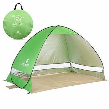 Pop Up Strandmuschel, LOTUSWILD Automatisches StrandZelt Extra Leicht UV-Schutz Portable Beach Zelt für Camping/Outdoor/ BBQ/Garten/Park/Angeln/Strand/Familienaktivitäten im Freien (für 2-4 Personen ) - 1